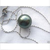 tahitian AAA+13mm tahitan black Pearl pendant