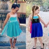 new 2015 Summer Snow Queen elsa & anna dress girl princess dress, girl dresses baby & kids clothing kid casual dress cotton kint