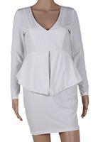 2015 Women work wear casual dresses long sleeves autumn winter dress