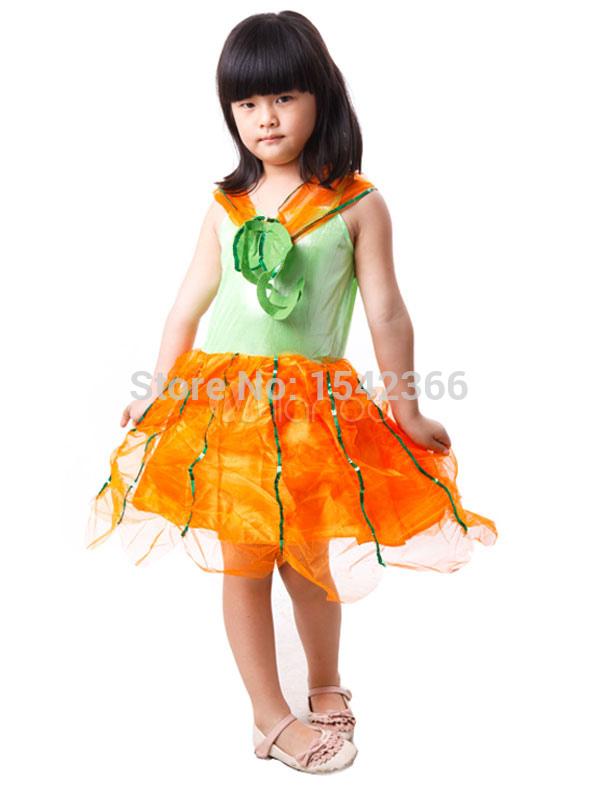 Girl Pumpkin Costume Girl's Pumpkin Costumes