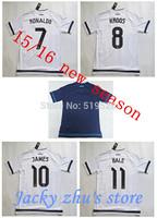 2015 16 Real Madrid New Home away shirt 15 16 Soccer jersey Real Madrid RAMOS RONALDO BALE JAMES ISCO soccer shirt