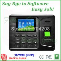 fingerprint time attendance machine digital electronic self- English Fingerprint readers machine