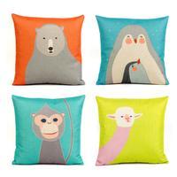 Cute animal cartoon office nap pillow cotton pillow bed pillow cushions IKEA Pashui original design
