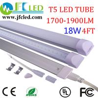 Free shipping 50PCS T5 led tube 1200mm/1.2m 18w 85-265v2835 led fluorescent tube1400-1600lm CE&ROHS integrated t5 led tube light