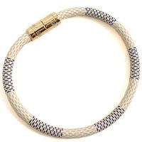 2015 Famous Brand Design Plated Gold Bracelet Stainless Steel Genuine Leather Bracelet Women Bracelets Bangles