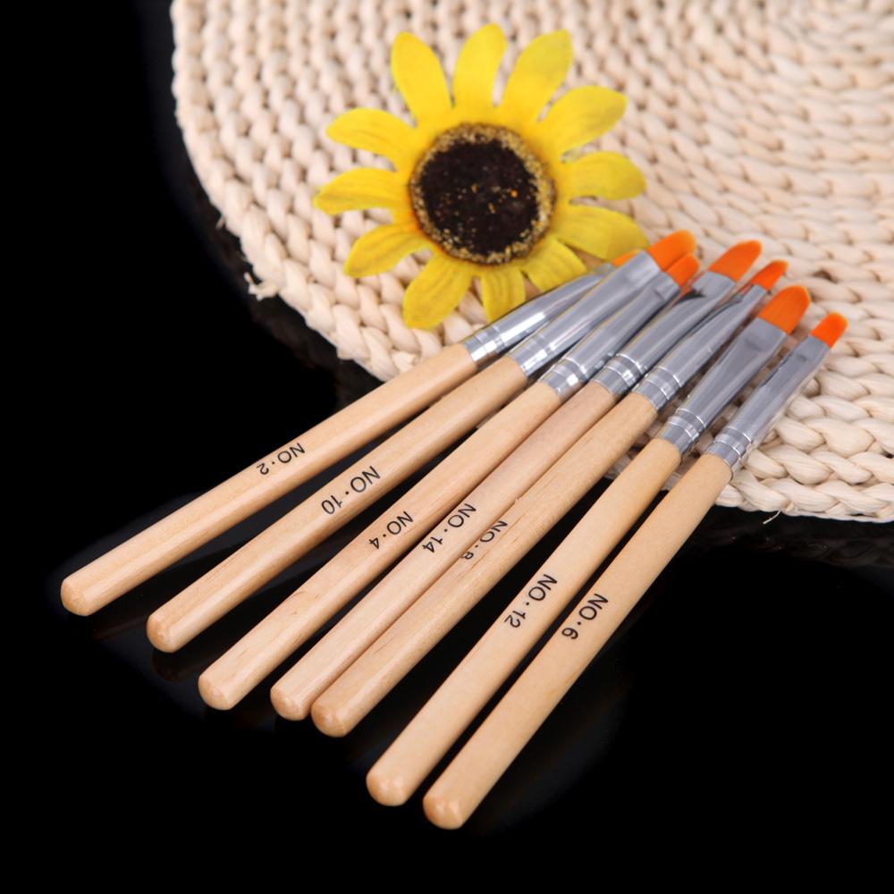 Кисточка для ногтей Nail Art brush DIY 7Pcs OH12052 кисточка для ногтей yifu store 1 2ways diy nao10