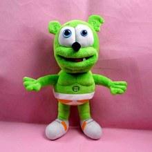 2015 new 32cm Singing Gummy Bear MUSICAL Gummibar Plush Soft Toy Bear Doll free shipping kawaii teddy bear toys for children(China (Mainland))