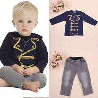 Free shipping Children Sets Baby Boys Long Sleeve Tops+ Pants Suit Kids Boys Set Autumn Spring Clothig