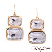 Fashion Shiny Popular Charms Shiny Chunky Crystal Stone Pendant Statement Drop Earrings Noble Jewelry
