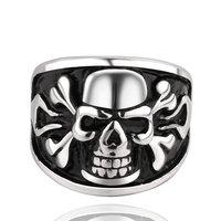 Men's Punk Ring 316L Stainless Steel Vogue Skull Ring For Women!Free Shipping!GMYR019