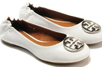 2015 Hot's  new Women's Genuine Leather Lambskin Metal Leapord Ballet Flat Slip-On Casual Designer Shoes Size US 4-10