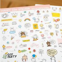 Creative Happy Day Rainbow and Animal paper Sticker/Multifunction/Cartoon DIY Paper Sticker/Sign post