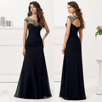 Gorgeous Evening Dresses Lace Appliques Special Occasion Dresses to Party Evening Elegant Long Evening Dress  Vestido Social2015