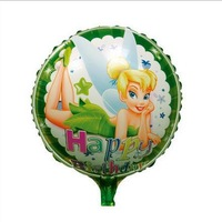 Free Shipping~ 10pcs/lot 18 inch Wholesale Aluminum foil balloon  round green beautiful girl balloon for birthday party