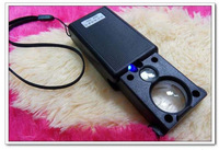 free shipping Magnification 30x 60x pull-out the IC chip magnifier with LED  identification paper money jewelry appraisal