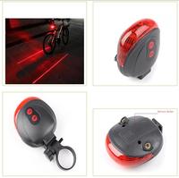 5LED+2Laser flash 7 mode Cycling Safety Bicycle red Rear Lamp waterproof Bike Laser Tail Light Warning Lamp Flashing