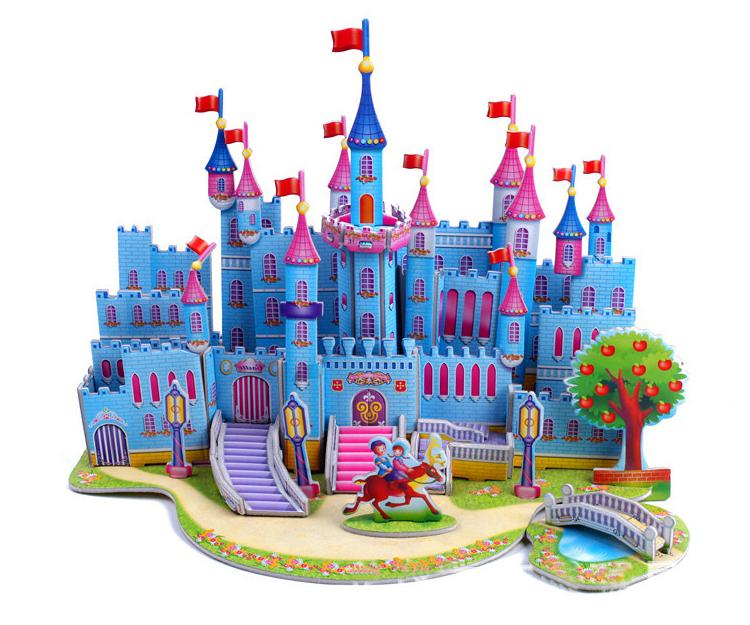модель здания бумаги замок