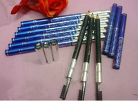 Free Shipping New Makeup Waterproof Brown Eyebrow Pencil With Brush (24 pcslots )24pcs