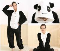 New Adult Animal Sleepsuit JP Anime Pajamas Panda Cosplay Costume Sleepwear Hoodies Helloween Party Dress Free Shipping