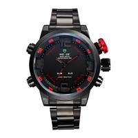 Original WEIDE Men Sports Watches Full Steel Watch Male Quartz Clock LED Waterproof Military Wristwatch Relogio Masculino 2015