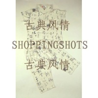 chinese suits for kid`s dress gown clothing 106111 white Asian