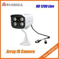 HD 1200 Line Security Camera 4 Light IR Night Vision IP66 Waterproof CCTV Camera With Bracket Woshida