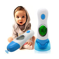 Portable Health Monitors Baby Infrared Thermometer Termometro 8 in 1 LCD Digital Display IR Thermometer