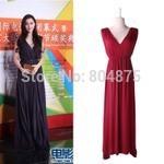 2015 Summer New Modal Dress Cultivate Morality Show Thin Double Deep V-neck Dress Sleeveless Dresses d1502