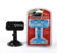 lazy bracket Kit 720-degree Rotation Mini Multi sucker phone holder car GPS suction cup bracket with retail package 10pcs