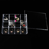 Wholesale 2 High Quality Clear View Plastic Jewellery Beads Box Compartment Storage Box 12 Compartments