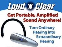 free shipping 1pcs Lound N clear sound amplifier hearing aid as seen on tv+retail box