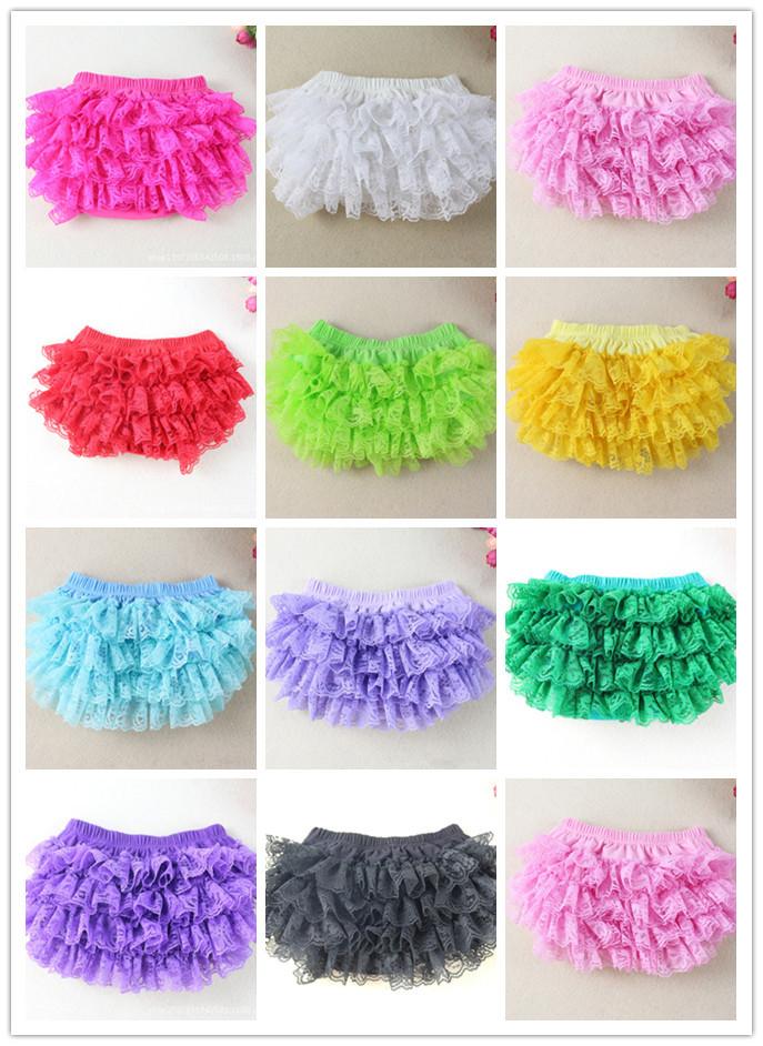 Cute baby lace bloomers infant girls boys posh petti ruffles shorts kids cotton skirt diaper covers PP short underwear 6pcs/lot(China (Mainland))