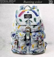 same direction Hot college middle school bags denim shoulder bag men and women travel bag leisure backpack 602112