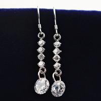925 Sterling Silver with Artificial Diamond Earrings,  Women Accessories Earrings SE0022