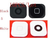 (5G50110AM)(10PCS/Lot by AM Epacket)100% Top Quality Guarantee Home Button for iPhone 5 5G Home Button Black White