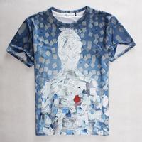 [Magic] 2015 summer Fashion t-shirt Men/Women Paper figures print short-sleeve casual 3d t shirt harajuku top tees S-XL 1841