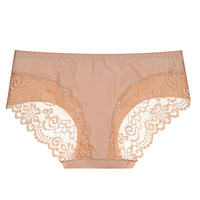 1pc Sexy Women Lace Seamless Ombre Hipster Panty KA133Beige