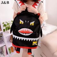 J&B 2015 Women Monster Backpack Casual Cartoon Backpack Travel Bags Students School Bags Mochila Feminina Free Shipping YYJ1192