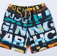 Men's Bermudas surf beach shorts letter printed water proof beachwear 2015 new prancha surf  bermuda moletom boardshort 3080
