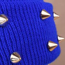 New Korean version of the new Harajuiku lovers cap rivet fluorescent candy colored knit cap autumn