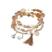 New Fashion Brand Punk Style Multilayer Buckle crystal Bracelets & Bangles Bracelet For Women multicolor fashion
