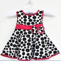 Kids Girls Polka Dot Sundress Toddler Bowknot Belt Dress 1-6Y Princess Free Shipping