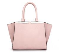 Seville solid orange 2015 women's spring fashion handbag shoulder briefcase bag for women pink pu leather Y13-638