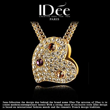 Hot style! 4-9 days Free Shipping! crystal diamond pendant necklace female hearts full of rose gold pendant Valentine's Day big(China (Mainland))