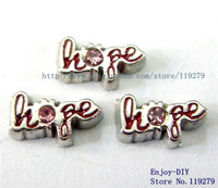 Free shipping Hope Floating charms DIY Accessory Fit for Floating charms Locket FC528