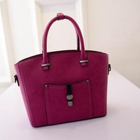 Trapeze Women Shoulder Bags New 2015 Women Handbags with Strap Ladies Crossbody Tote Bags Leather Women Messenger Bag  -015