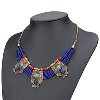 fashion newest 2015 bohemian ethnic necklace for women vintage handmade necklace & pendant