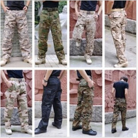 Outdoor casual wear male cp Camouflage pants tooling for training pants tactical acu pants black