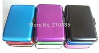 Free Shipping 1000pcs 9 colors Aluminium Wallet As Seen On TV Credit Card Holder Aluma Wallet Card Guard