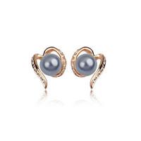 Fashion accessories diamond pearl stud earring earrings female